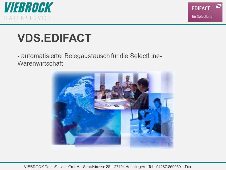 VDS.EDIFACT - automatisierter Belegaustausch für die SelectLine-Warenwirtschaft