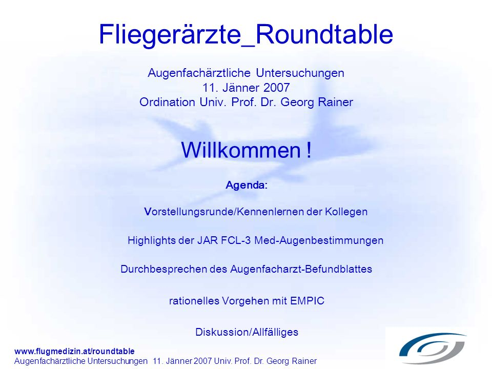 Fliegerärzte_Roundtable Augenfachärztliche Untersuchungen 11