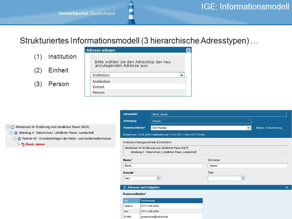 IGE: Informationsmodell