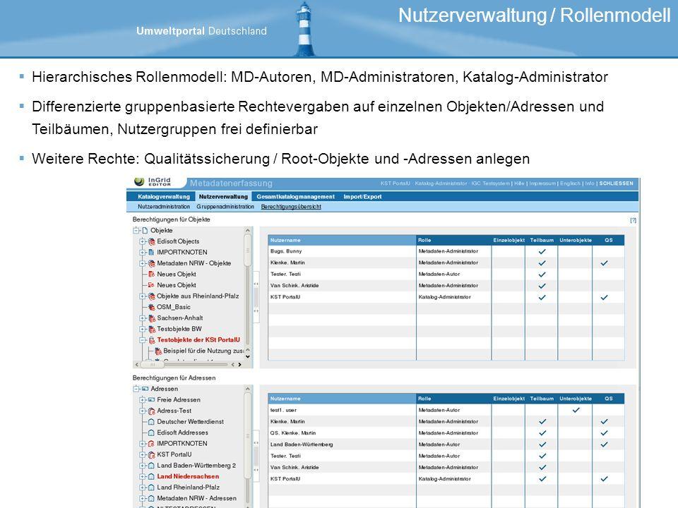 Nutzerverwaltung / Rollenmodell