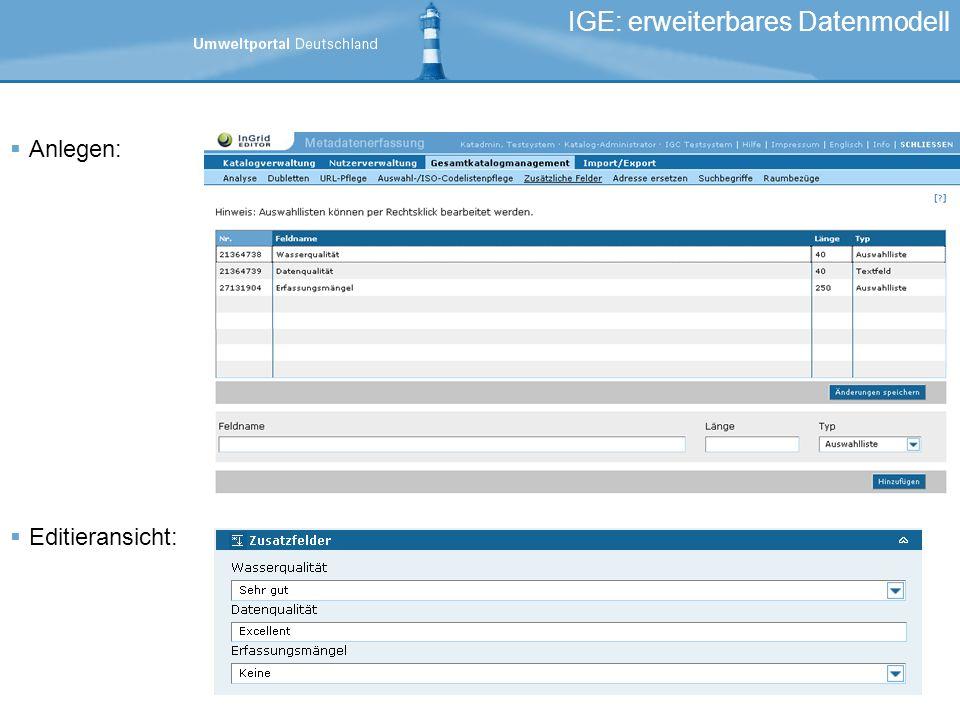 IGE: erweiterbares Datenmodell
