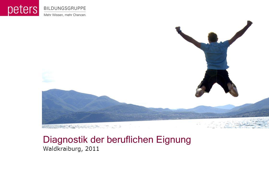 Diagnostik der beruflichen Eignung Waldkraiburg, 2011