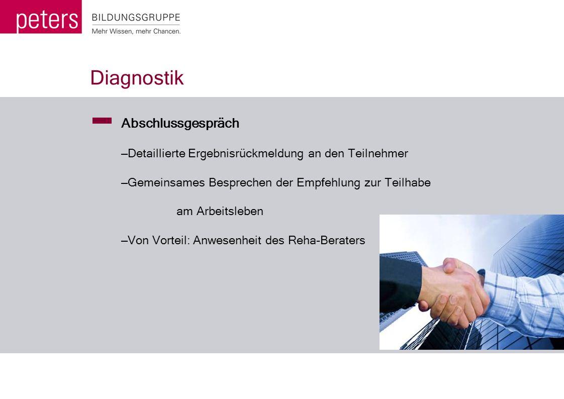 Diagnostik Abschlussgespräch