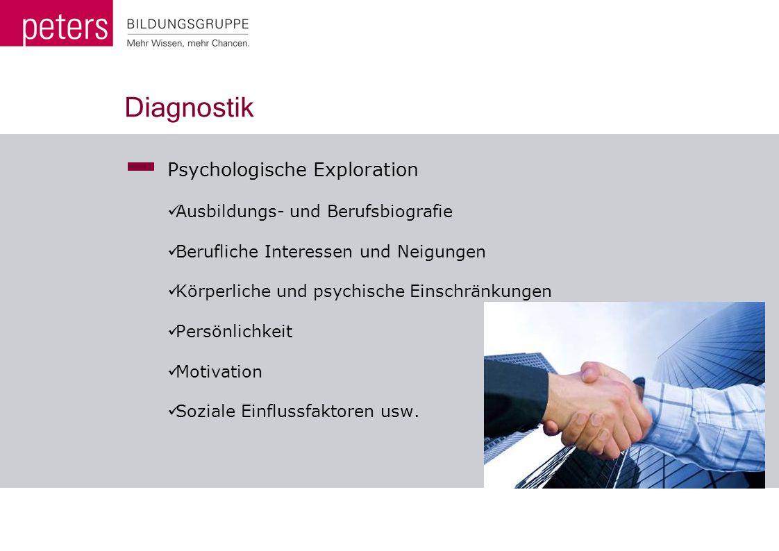 Diagnostik Psychologische Exploration Ausbildungs- und Berufsbiografie