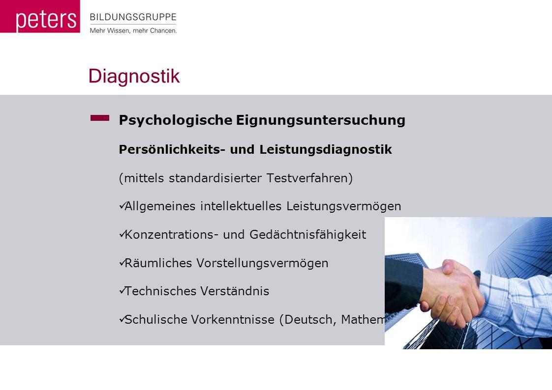 Diagnostik Psychologische Eignungsuntersuchung