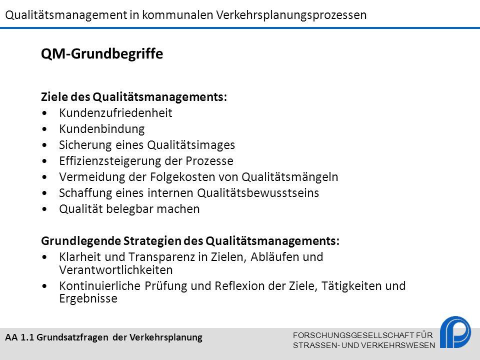 QM-Grundbegriffe Ziele des Qualitätsmanagements: Kundenzufriedenheit