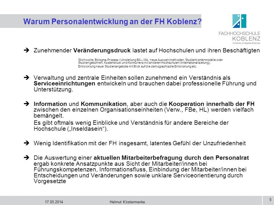 Warum Personalentwicklung an der FH Koblenz