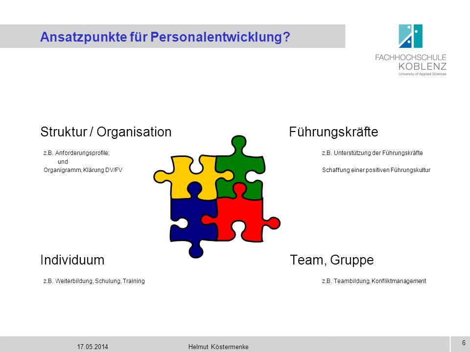 Ansatzpunkte für Personalentwicklung