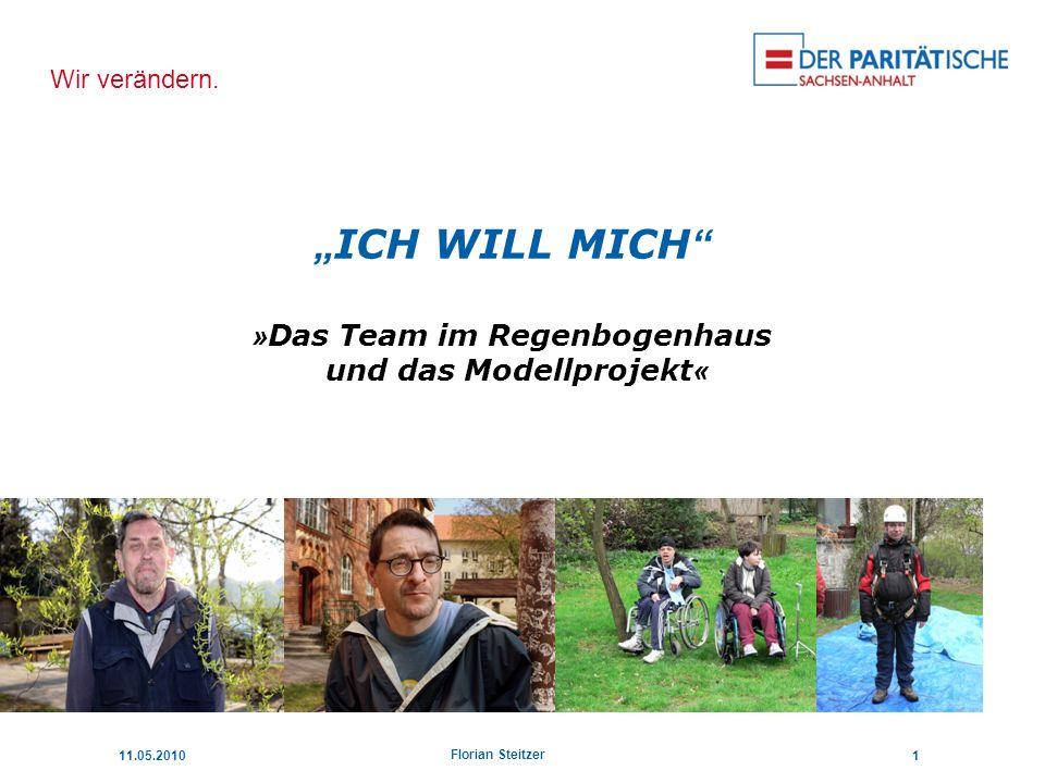 """""""ICH WILL MICH »Das Team im Regenbogenhaus und das Modellprojekt«"""