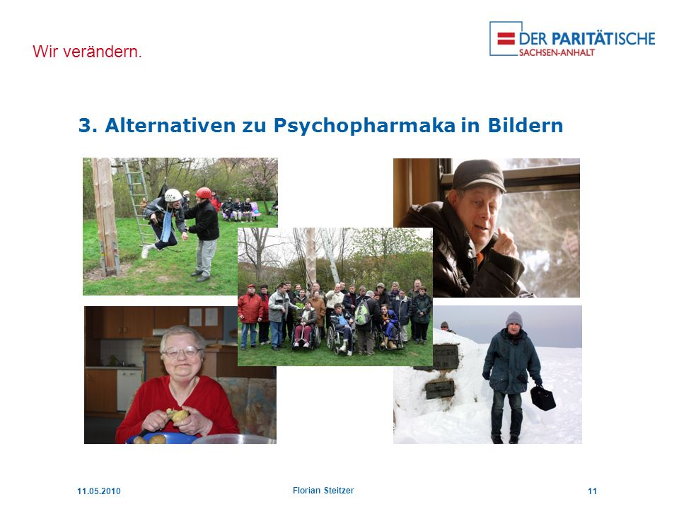 3. Alternativen zu Psychopharmaka in Bildern