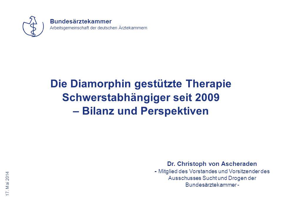 Die Diamorphin gestützte Therapie Schwerstabhängiger seit 2009 – Bilanz und Perspektiven