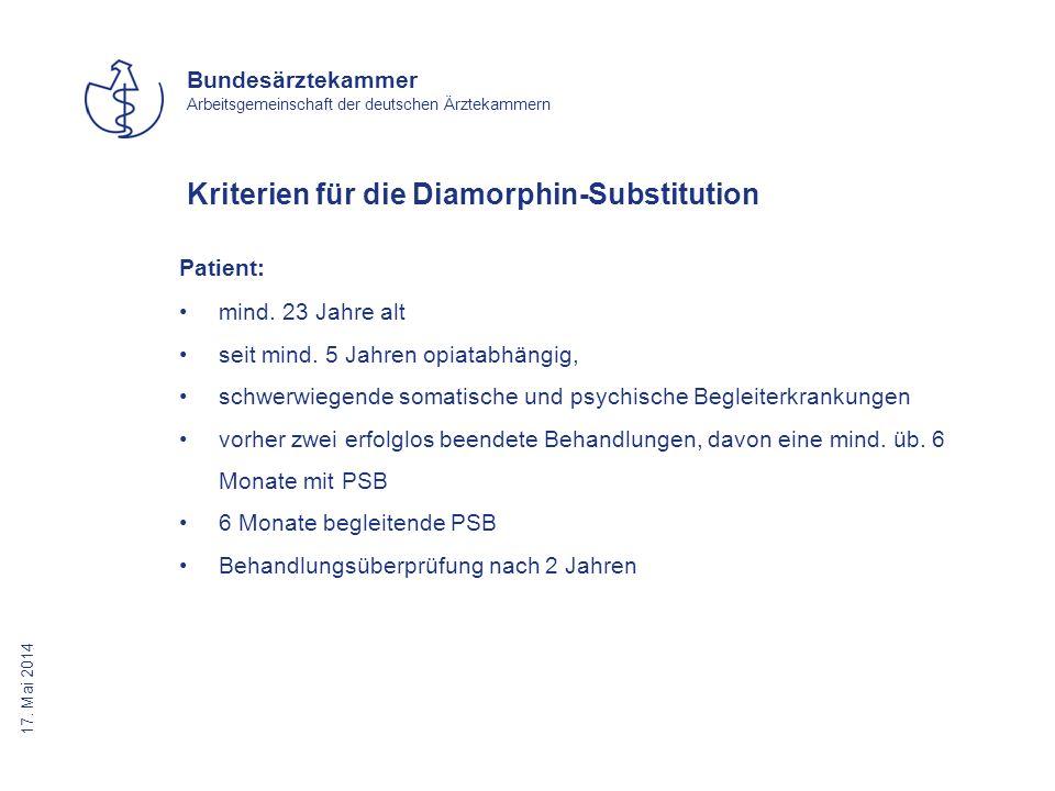 Kriterien für die Diamorphin-Substitution