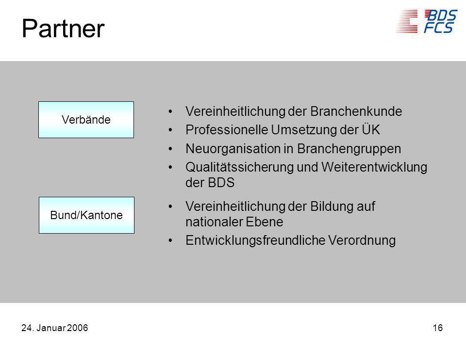 Partner Vereinheitlichung der Branchenkunde