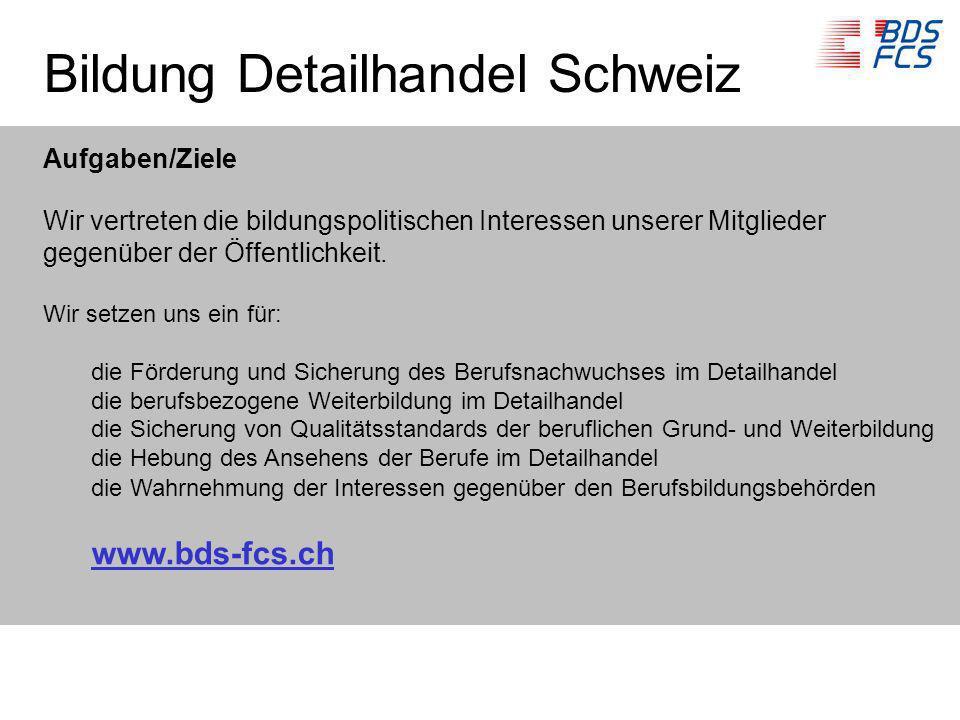 Bildung Detailhandel Schweiz