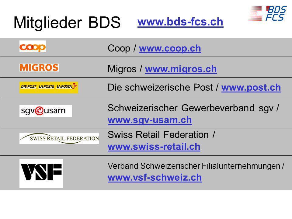 Mitglieder BDS www.bds-fcs.ch Coop / www.coop.ch