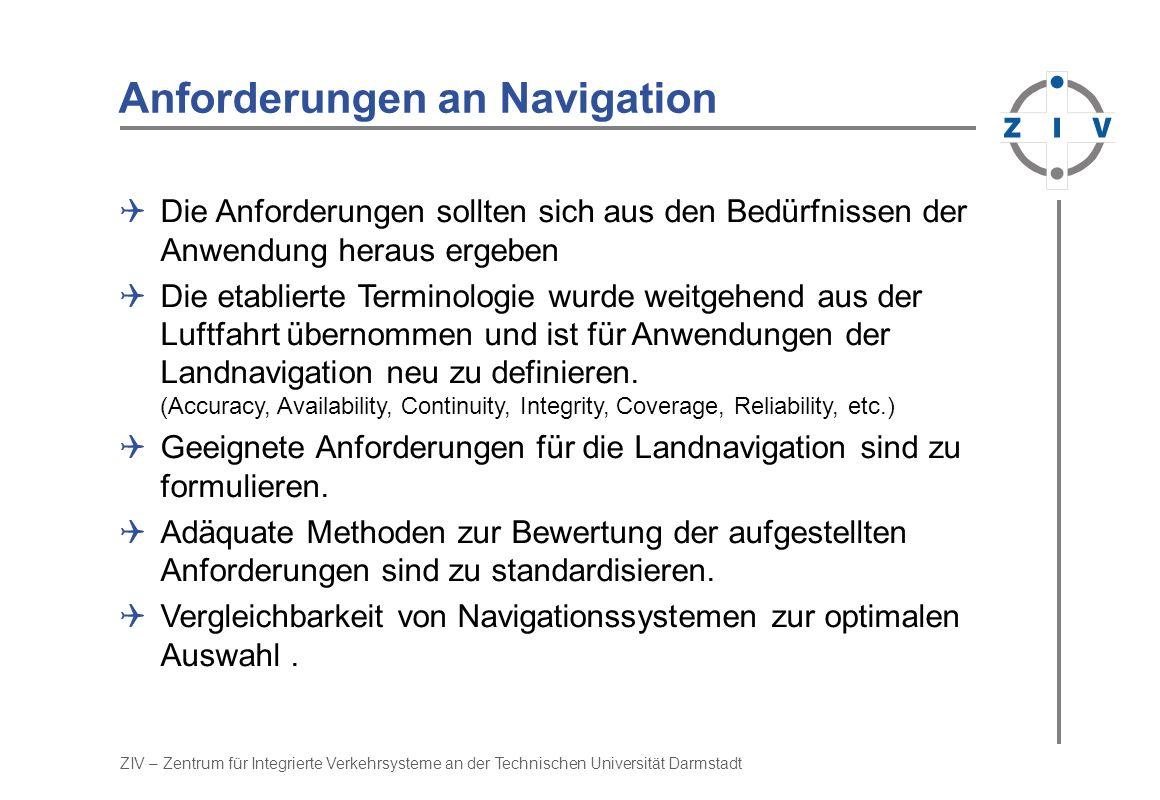 Anforderungen an Navigation