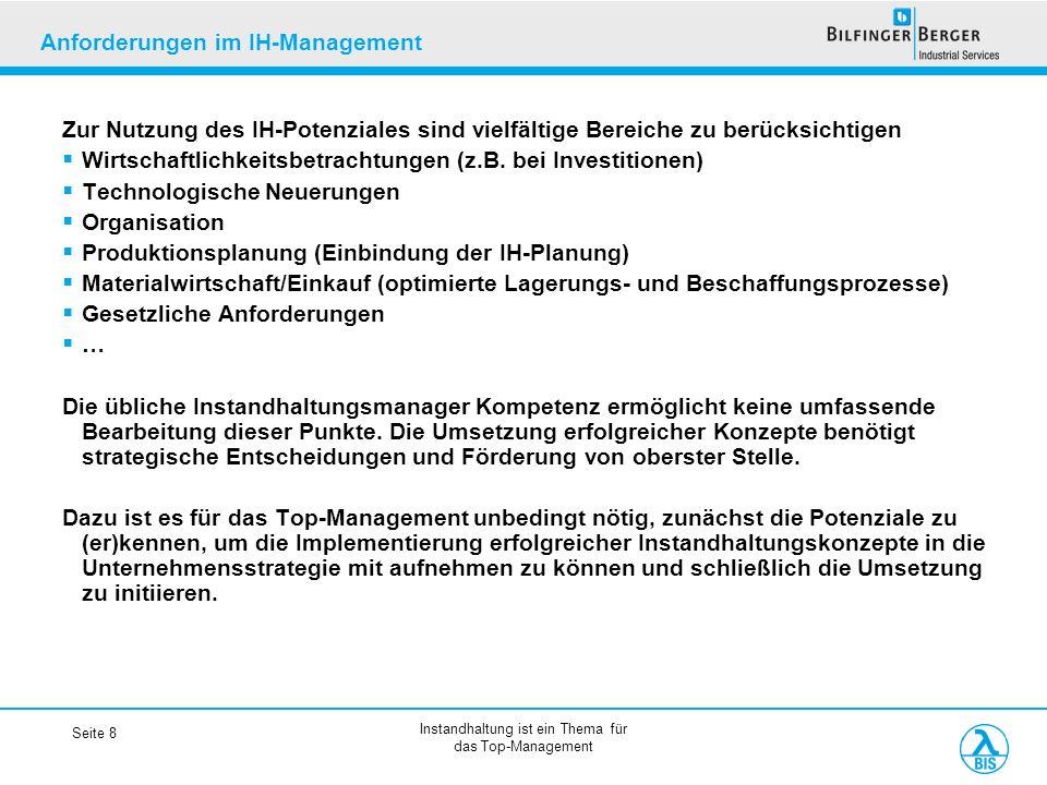 Anforderungen im IH-Management