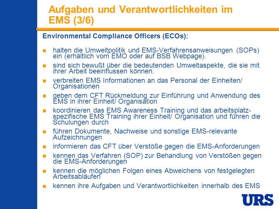 Aufgaben und Verantwortlichkeiten im EMS (3/6)