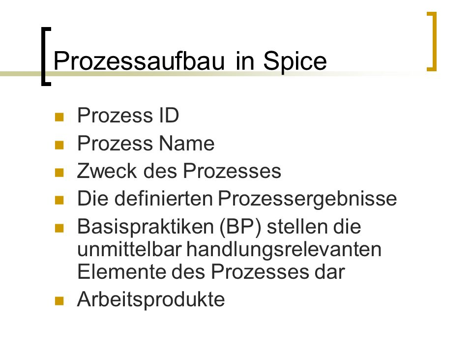 Prozessaufbau in Spice