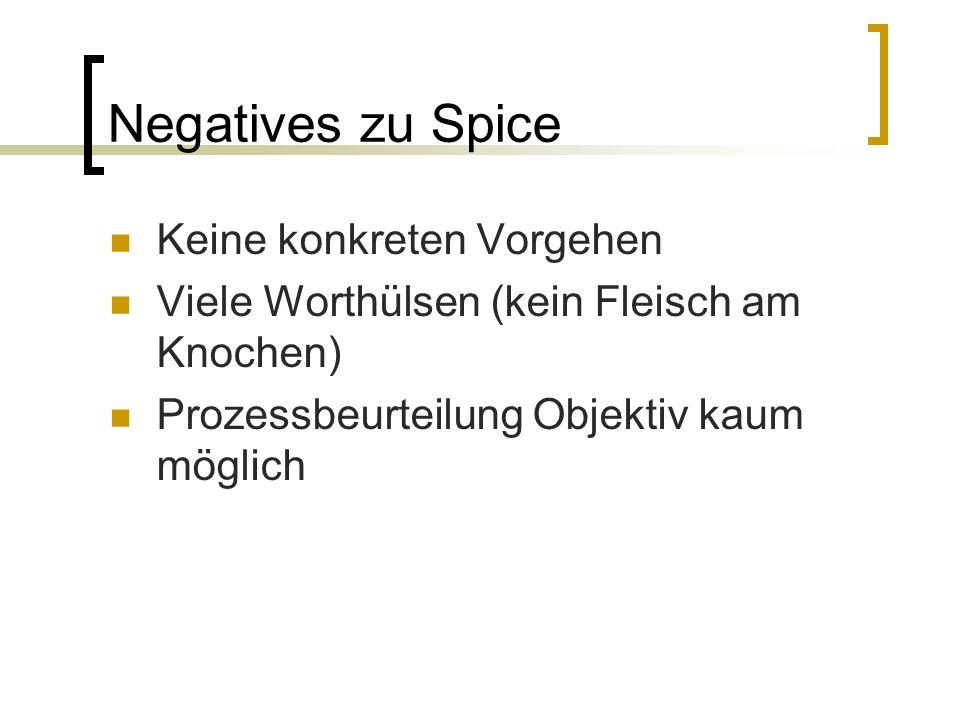 Negatives zu Spice Keine konkreten Vorgehen