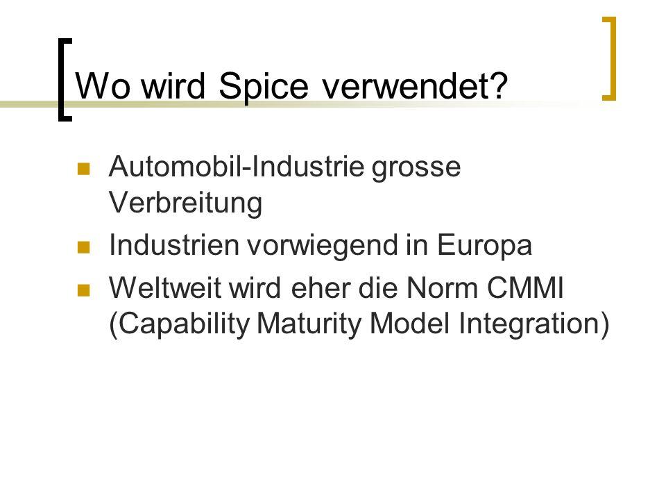 Wo wird Spice verwendet