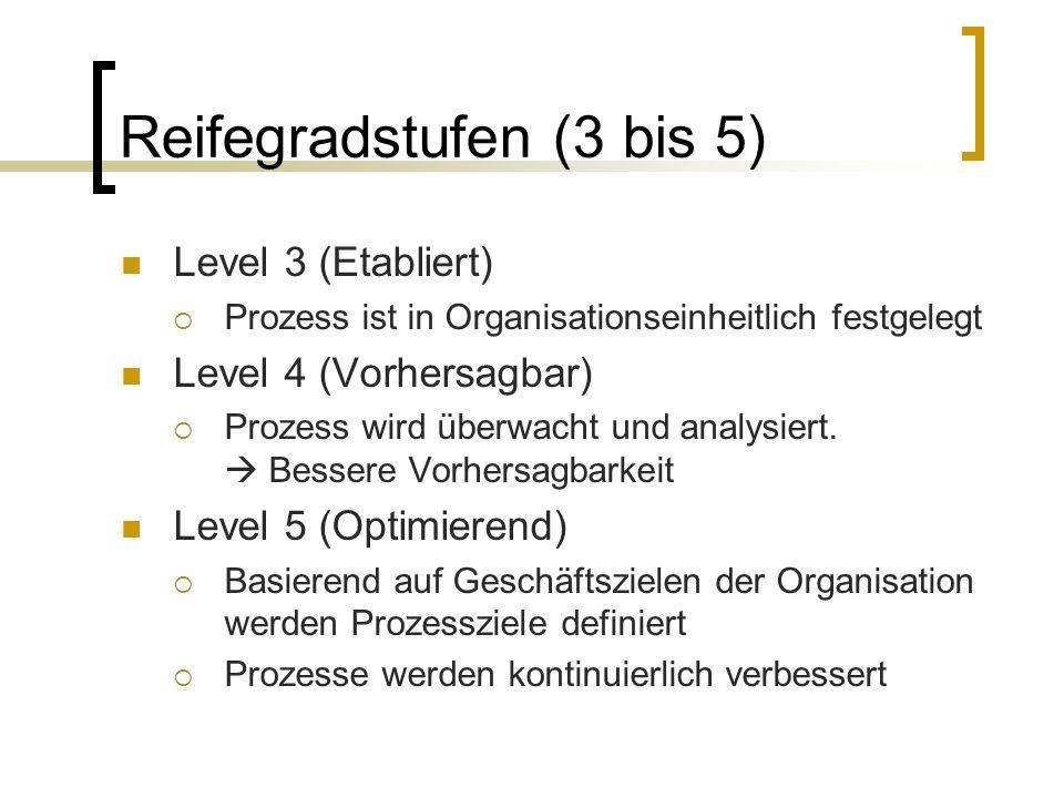 Reifegradstufen (3 bis 5)
