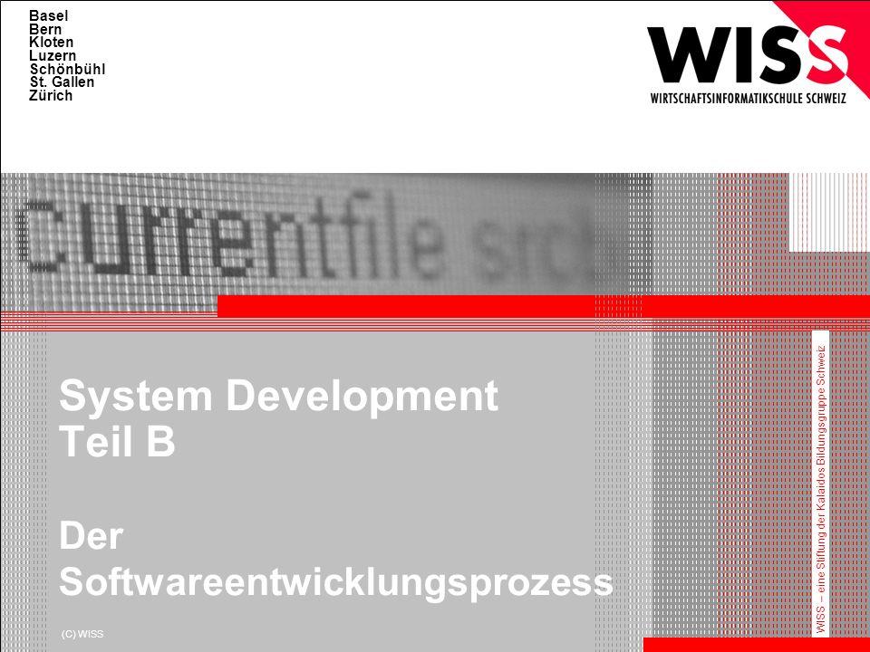 HFWI System Development Teil B Der Softwareentwicklungsprozess