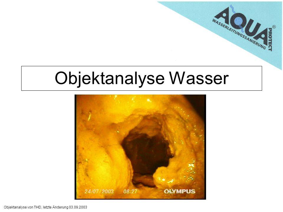 Objektanalyse Wasser