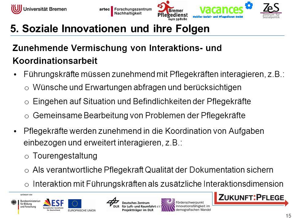 5. Soziale Innovationen und ihre Folgen