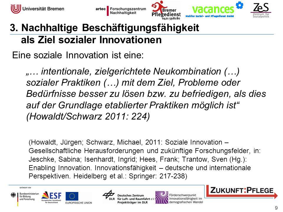 3. Nachhaltige Beschäftigungsfähigkeit als Ziel sozialer Innovationen