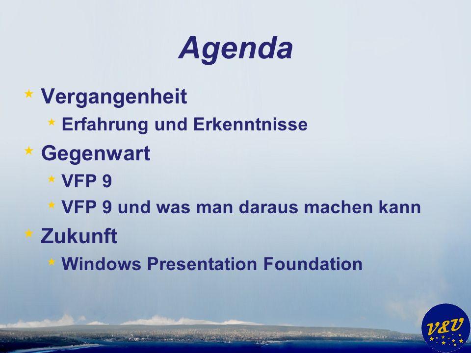 Agenda Vergangenheit Gegenwart Zukunft Erfahrung und Erkenntnisse
