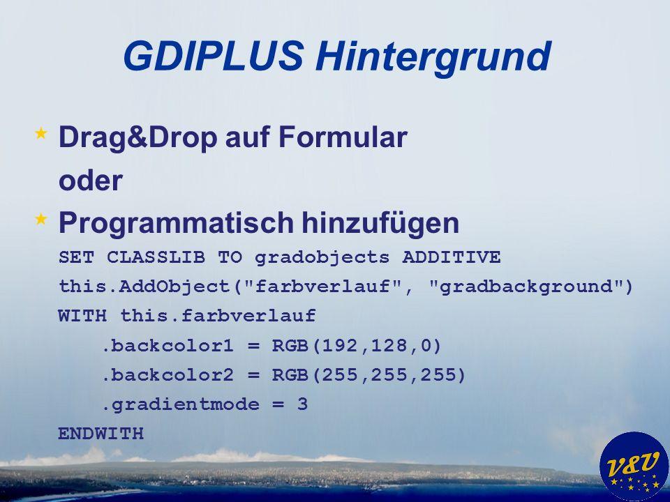 GDIPLUS Hintergrund Drag&Drop auf Formular oder