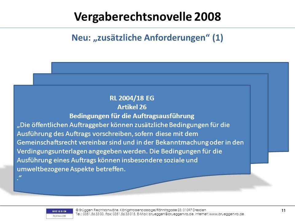 """Neu: """"zusätzliche Anforderungen (1)"""