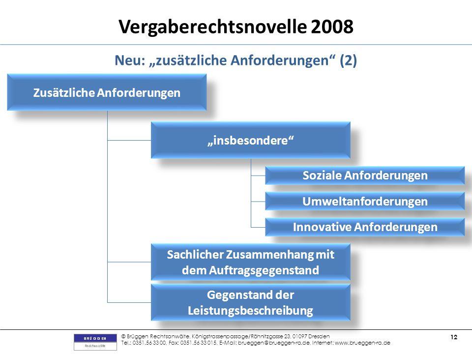 """Neu: """"zusätzliche Anforderungen (2)"""