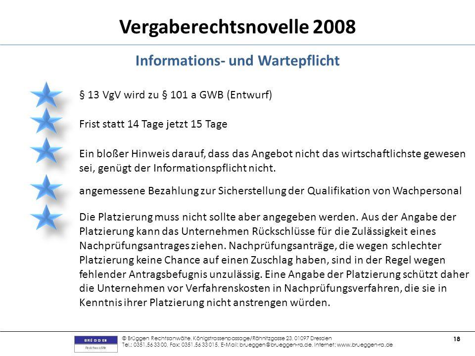 Informations- und Wartepflicht