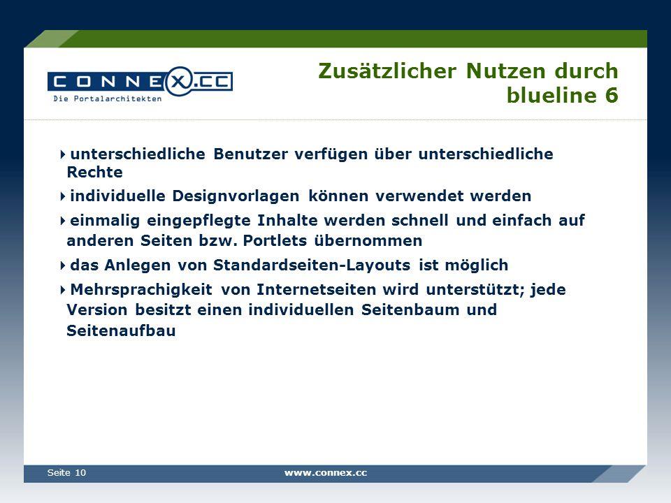 Zusätzlicher Nutzen durch blueline 6