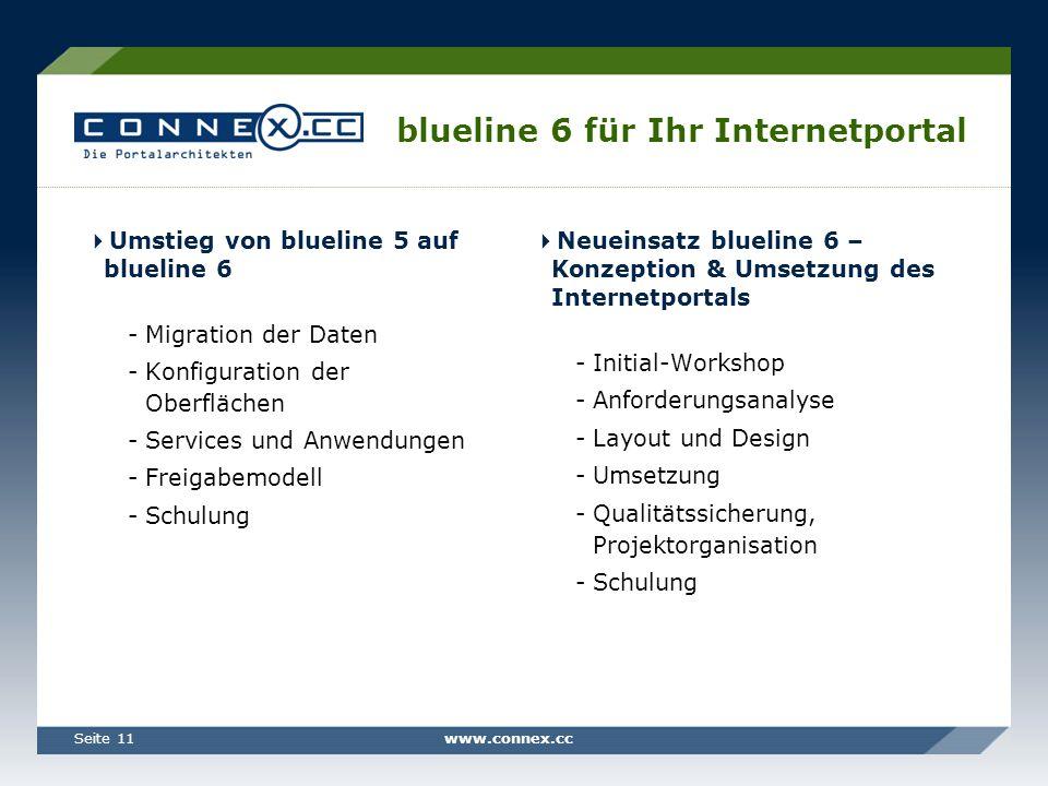blueline 6 für Ihr Internetportal