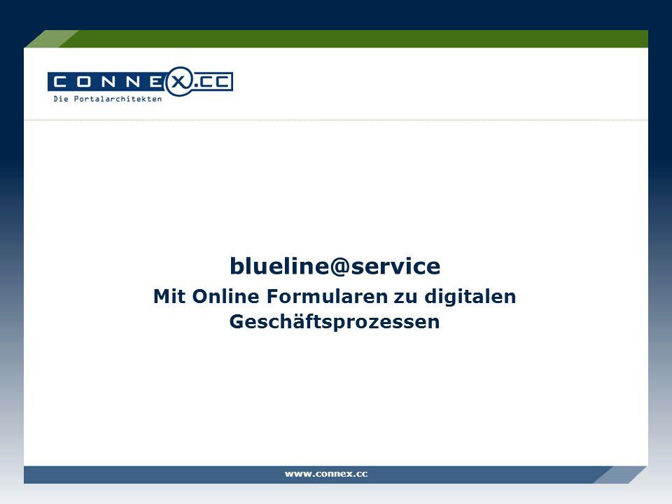 blueline@service Mit Online Formularen zu digitalen Geschäftsprozessen