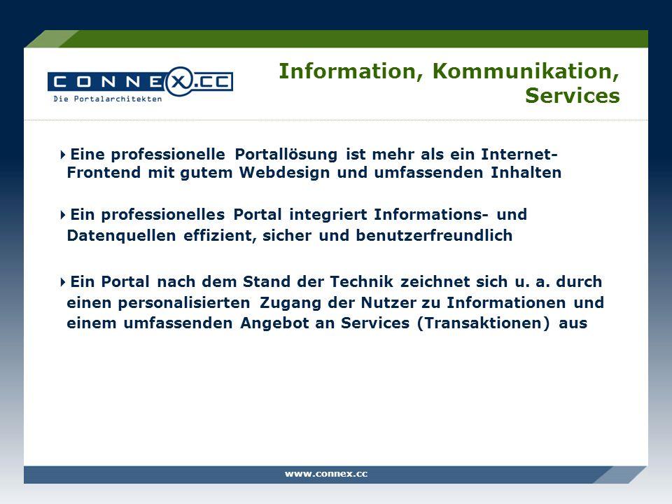 Information, Kommunikation, Services