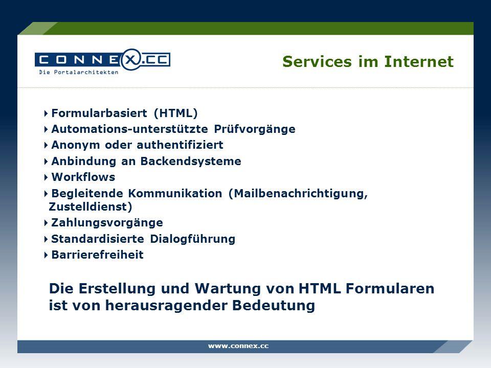 Services im Internet Formularbasiert (HTML)