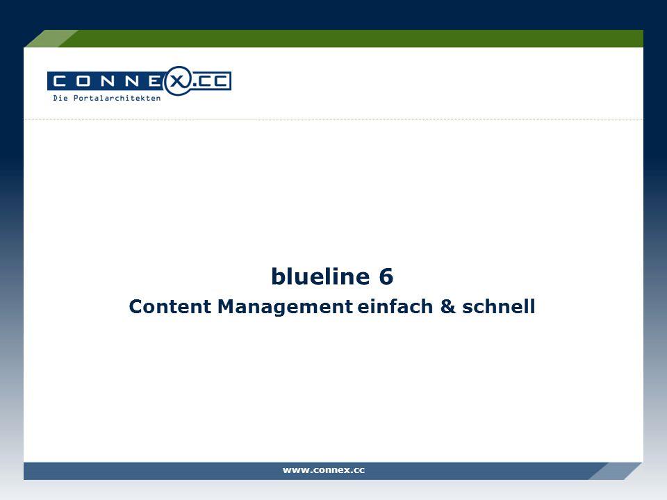 blueline 6 Content Management einfach & schnell