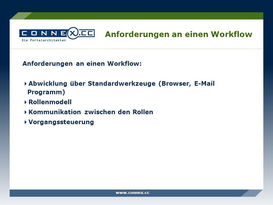 Anforderungen an einen Workflow