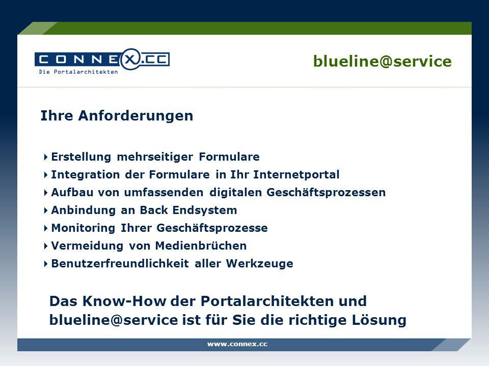 blueline@service Ihre Anforderungen Erstellung mehrseitiger Formulare