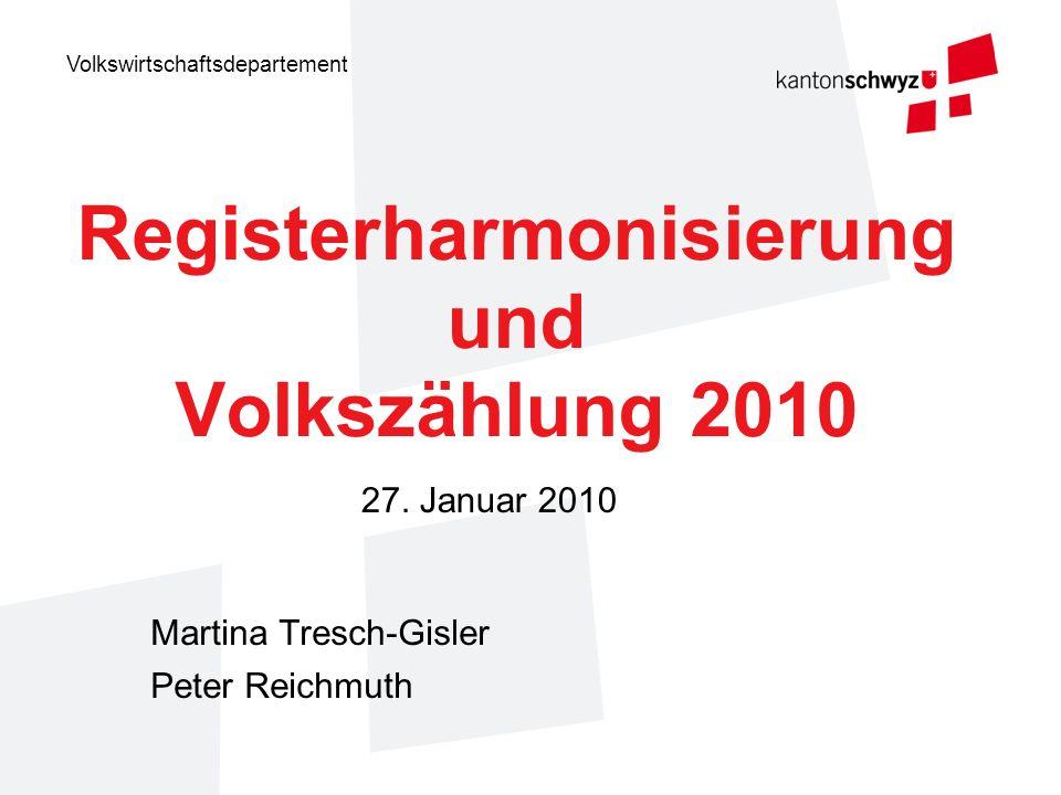 Registerharmonisierung und Volkszählung 2010