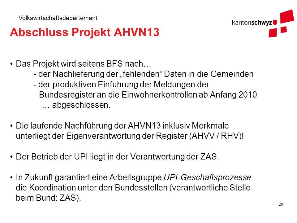 Abschluss Projekt AHVN13