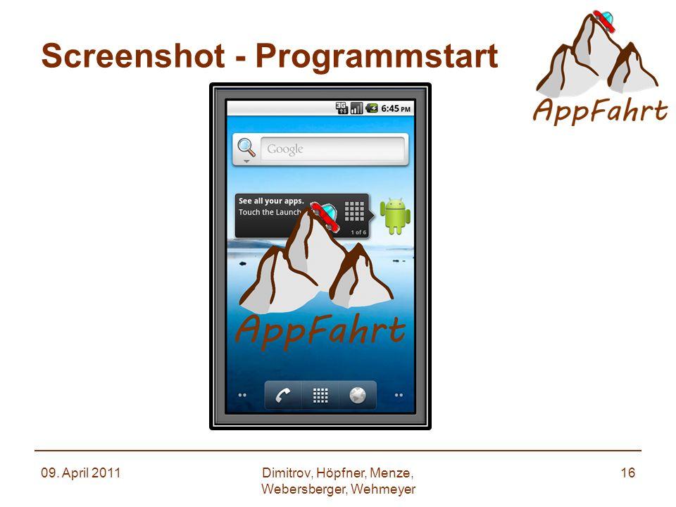 Screenshot - Programmstart