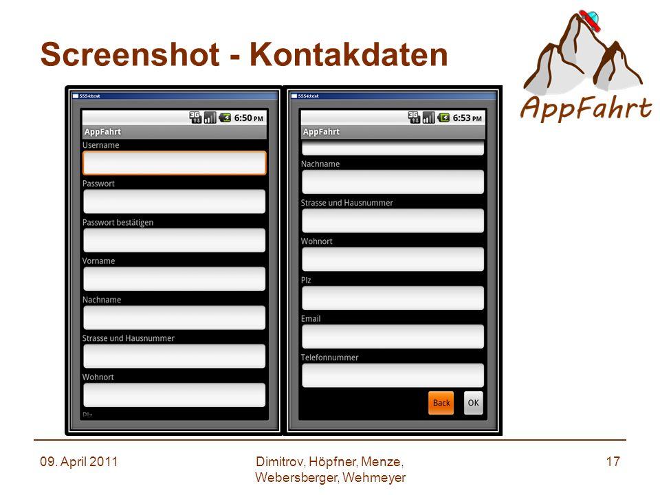 Screenshot - Kontakdaten