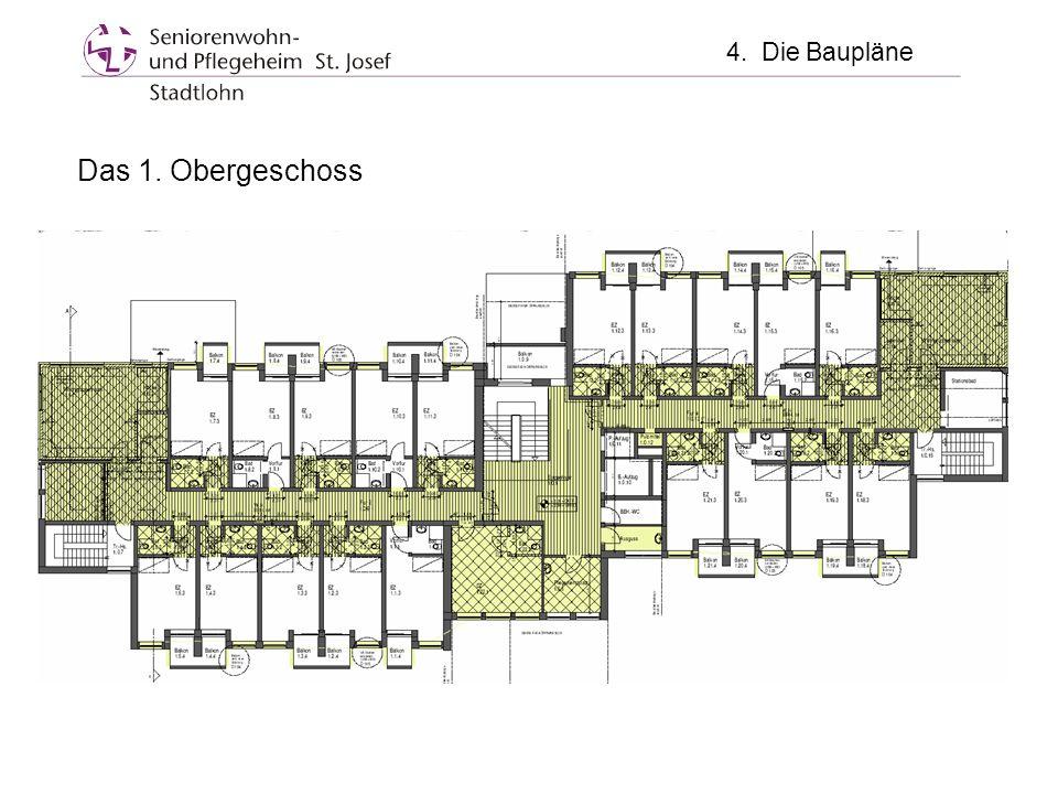 4. Die Baupläne Das 1. Obergeschoss