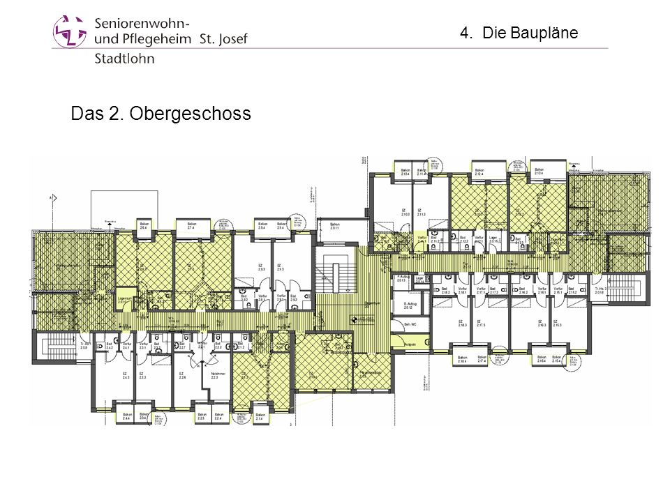 4. Die Baupläne Das 2. Obergeschoss