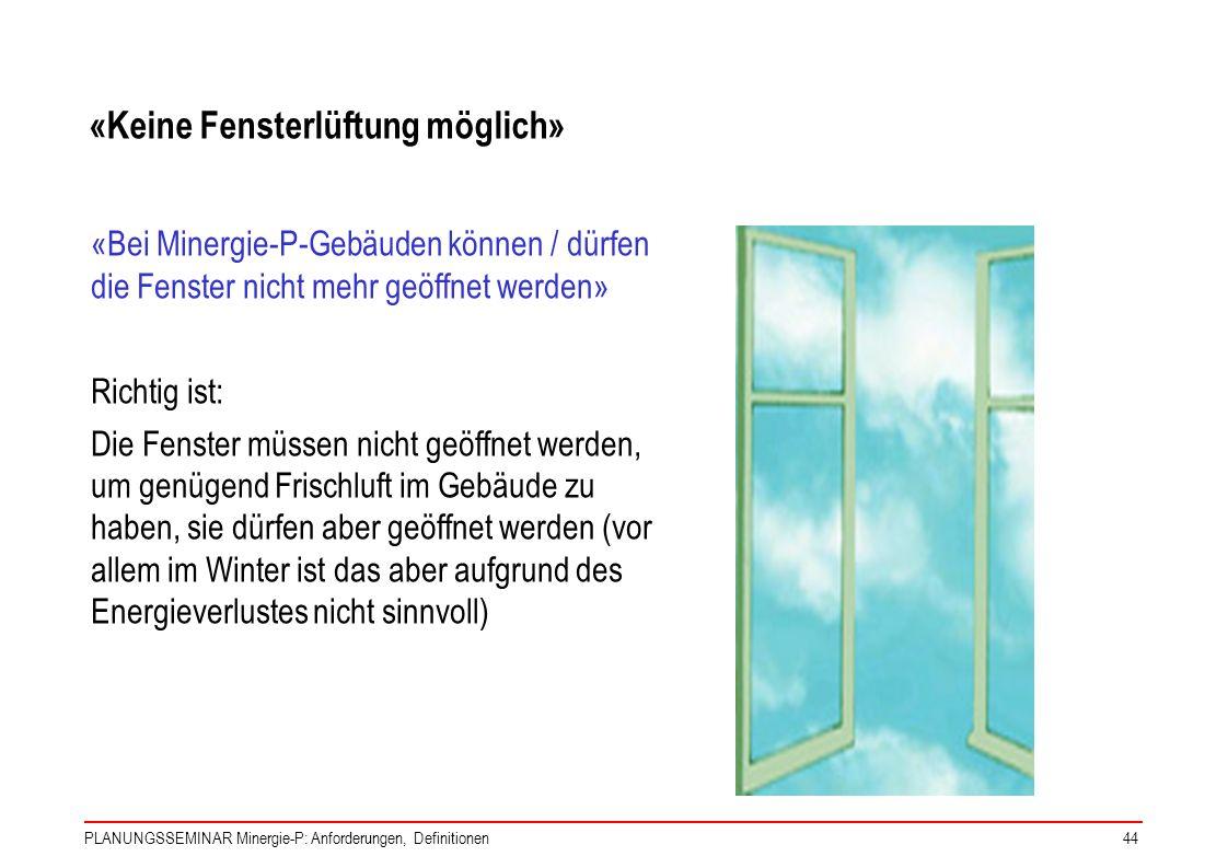«Keine Fensterlüftung möglich»